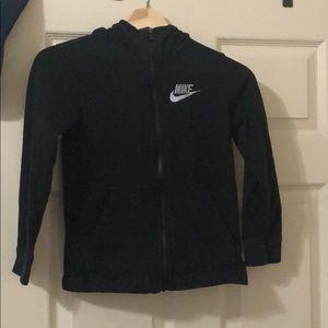 Nike Boys black zip up hoodie